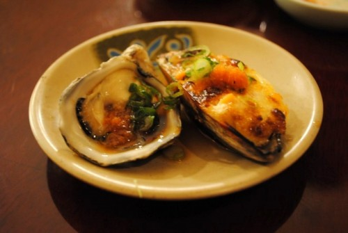 oyster mussel 500x335 Sushi Sasabune   3/15/10
