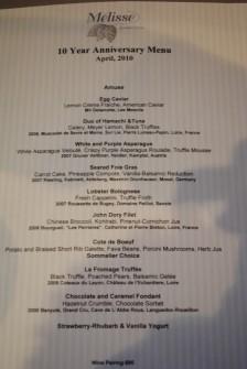 menu 224x335 Melisse   4/22/10