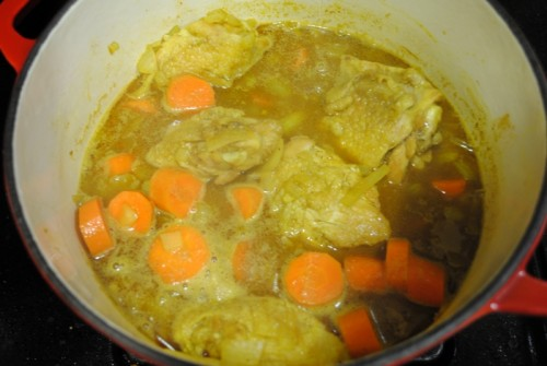 braising 500x335 Chicken Curry   5/1/10
