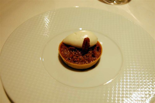 pecan tart medium 500x332 The French Laundry   12/23/09