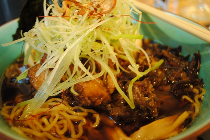Oxtail Ramen – rich oxtail soup, truffle oil, marinated poached egg