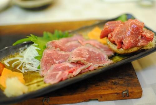 seared ribeye and throat sashimi 500x335 Totoraku   8/7/10