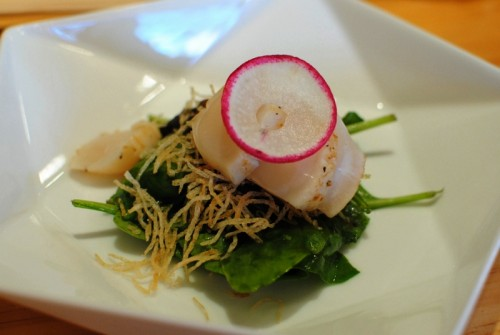 spinach scallops salad 500x335 Asanebo   9/12/10