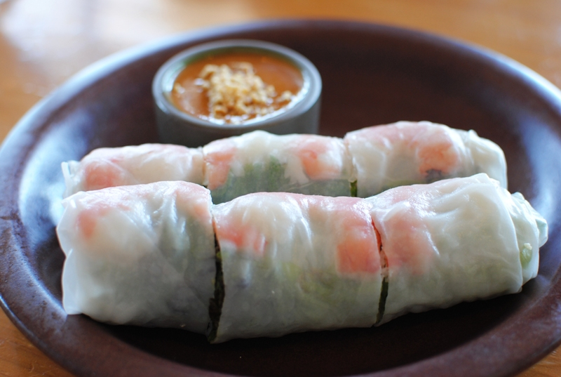 ... spring rolls you can get at a good Vietnamese restaurant, but these