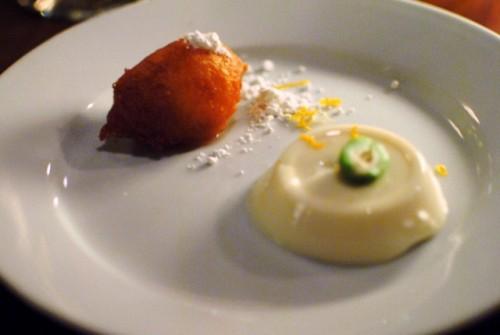 ricotta fritter 500x335 Test Kitchen: Marcel Vigneron   10/1/10