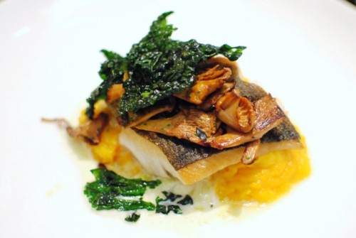 california black cod roasted winter squash melted leeks chanterelles