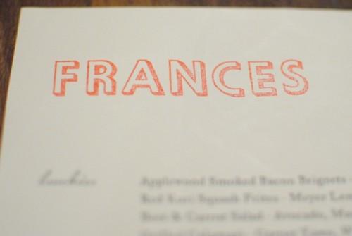 menu 500x335 Frances   11/27/10