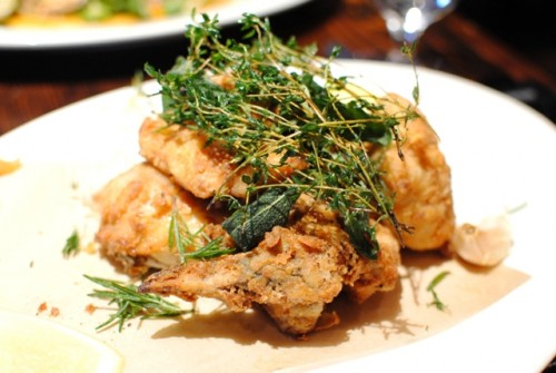 fried chicken 500x335 Wayfare Tavern   11/29/10