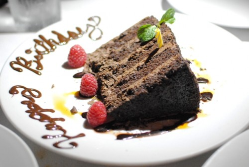 chocolate cake 500x335 Mastros Beverly Hills   1/29/11