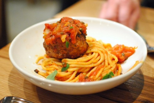 spaghetti meatball 500x335 Bar Agricole   1/8/11