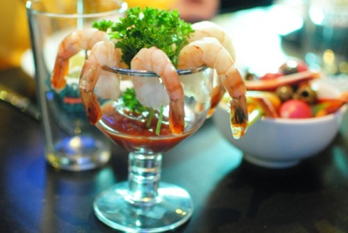 shrimp 500x335 Walter Manzke @ Biergarten (Los Angeles, CA)