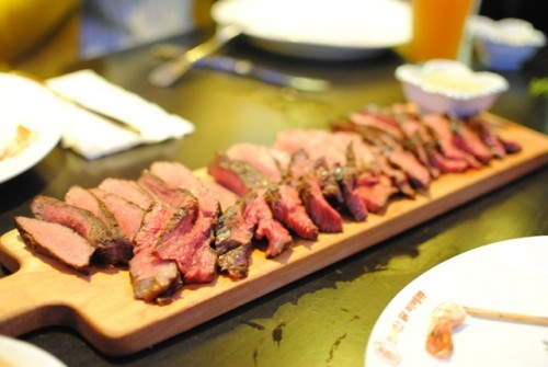 steaks 500x335 Walter Manzke @ Biergarten (Los Angeles, CA)