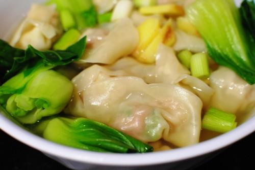 wonton soup closeup 500x335 Wonton Noodle Soup