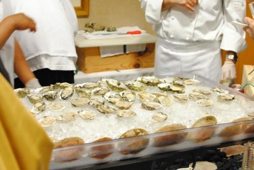 cafe del rey oysters 500x335 2011 Grande Marque Champagne Tasting (Santa Monica, CA)