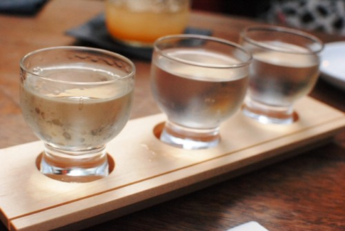 sake flight 500x335 Chaya Downtown (Los Angeles, CA)