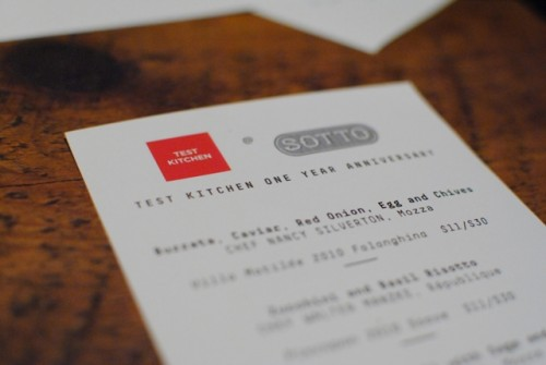 sotto menu 500x335 Test Kitchen Reunion (Los Angeles, CA)